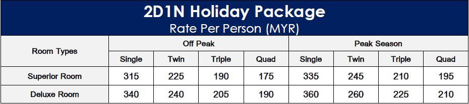 2D1N Kapas Coral Resort Holiday Package-min