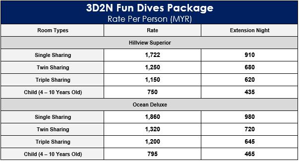 3D2N Fun Dives Package