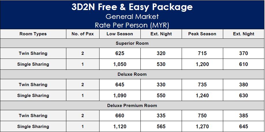 Holiday Villa Beach Resort & Spa Langkawi 3D2N Free & Easy Package