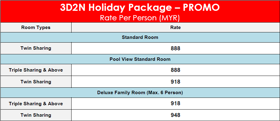 Summer Bay Resort 3D2N Holiday Package – PROMO