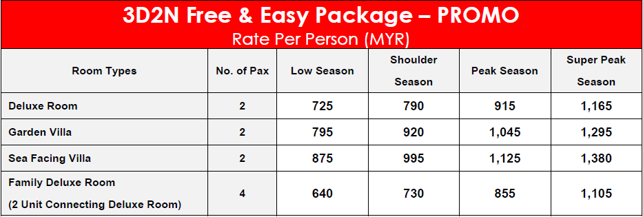 The Frangipani Langkawi Resort & Spa beach 3D2N Free & Easy Package – PROMO